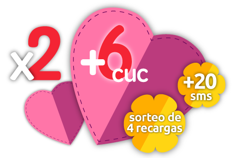 Recarga doble +6 CUC +20 SMS