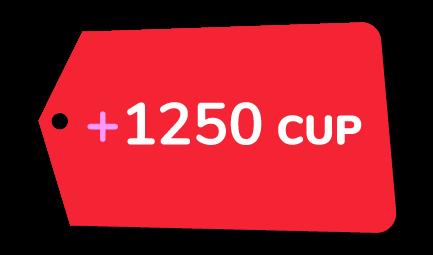 Recarga +1250 CUP Cubacel