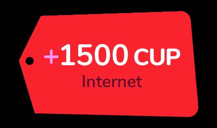 Recarga Cubacel +1500 CUP