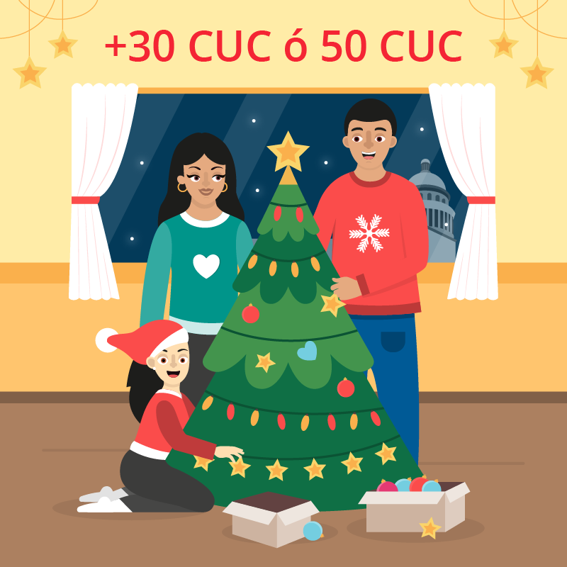 Recarga Cubacel +30 CUC o +50 CUC