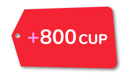 Recarga +800 CUP Cubacel