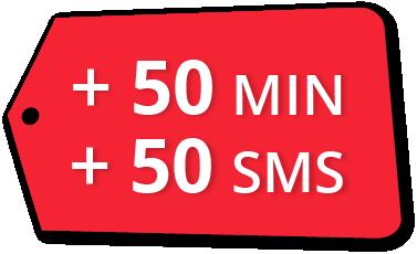 Bono Cubacel 50 Min + 50 SMS