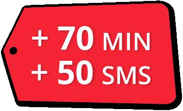 Bono Cubacel 70 Min + 50 SMS
