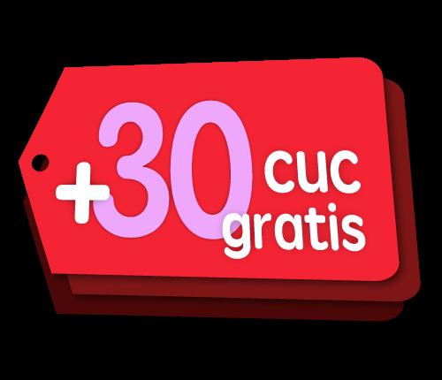 Recarga Cubacel +30 CUC gratis