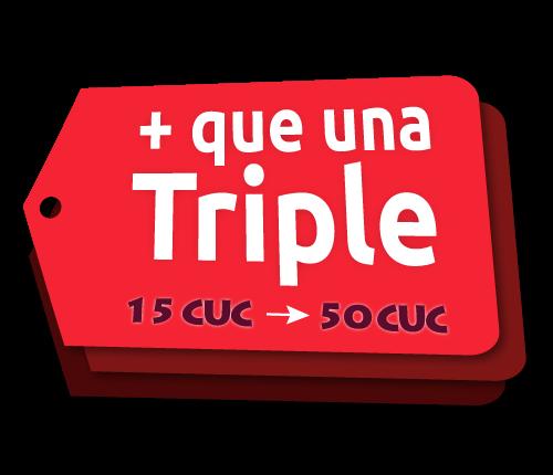 Recarga Triple Plus Cubacel de Agosto