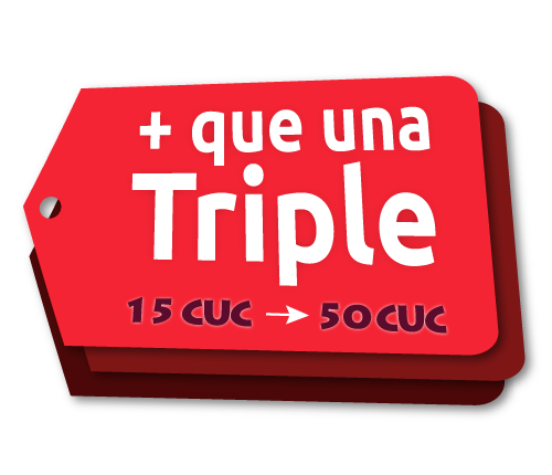 Recarga Triple Plus Cubacel de Julio